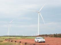 Электрические производя ветрянки Стоковые Изображения RF