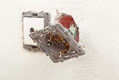 Электрические проломы в стене или гнезда Стоковые Фото