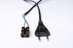 Электрические штепсельная вилка и шоколад Стоковая Фотография RF