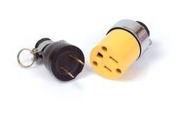 Электрические штырь и штепсельная вилка Стоковые Фото