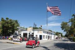 Электрический автомобиль в Key West, Флориде Стоковое Изображение