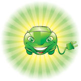 Электрический автомобиль Стоковая Фотография RF