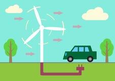 Электрический автомобиль Иллюстрация вектора