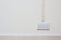 Электрический выключатель на стене Стоковое фото RF
