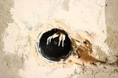 электрический выход в квартире стоковое изображение