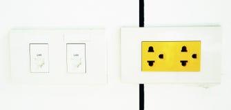электрический желтый цвет выхода Стоковые Изображения RF