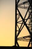 электрический заход солнца полюса стоковое изображение