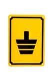 Электрический земной желтый символ Стоковое Изображение RF