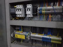 Электрический интерьер панели Стоковые Фотографии RF