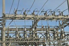 Электрический конец центра распределения poower вверх Стоковая Фотография RF