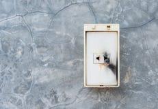 Электрический отказ в выходе силы Стоковая Фотография RF