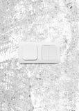 Электрический переключатель 3 кнопок на стене Стоковое Изображение