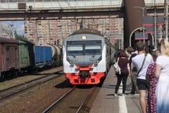 Электрический поезд стоковая фотография rf