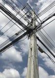 Электрический поляк на улице Стоковая Фотография
