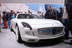 Электрический привод Benz SLS Мерседес стоковое фото rf