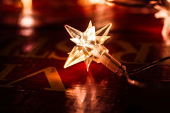 Электрический свет сформированный как звезда стоковая фотография
