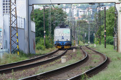 Электрический старый локомотив Стоковое Фото