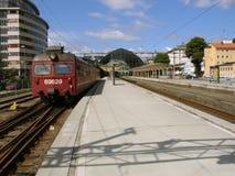 электрический старый поезд Стоковая Фотография