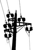 электрический старый полюс Стоковое Изображение RF