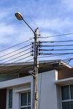 Электрический столб Стоковое Изображение