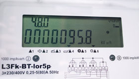 Электрический счетчик следующего поколени Стоковая Фотография RF
