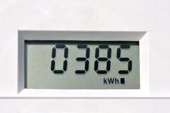 Электрический счетчик цифров Стоковое Фото