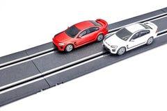 Электрический след автомобиля шлица Стоковое Изображение RF
