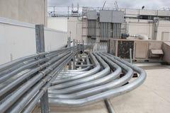 Электрический тубопровод установки Стоковое Изображение