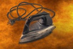 электрический утюг старый Стоковые Изображения