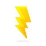 Электрический удар молнии иллюстрация вектора