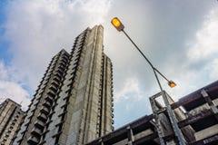 Электрический уличный фонарь Стоковое Фото