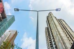Электрический уличный фонарь Стоковое фото RF