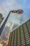 Электрический уличный фонарь Стоковые Изображения RF