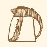 электрический чайник сбор винограда типа лилии иллюстрации красный Стоковая Фотография RF