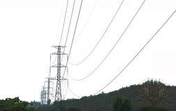 Электрический для далекого города стоковая фотография rf