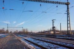 электрический railway инфраструктуры Стоковые Фото