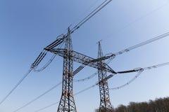 электрическое высокое напряжение тока силы столба Стоковые Фото