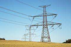 электрическое высокое напряжение тока силы столба Стоковое Изображение