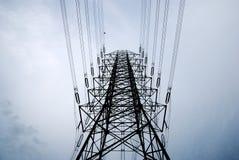 электрическое высокое напряжение тока столба Стоковая Фотография RF