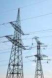 электрическое напряжение тока высокой башни Стоковое фото RF