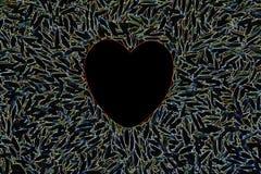 электрическое сердце Стоковые Изображения RF