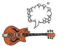 Электрическое guitar-100 Стоковая Фотография