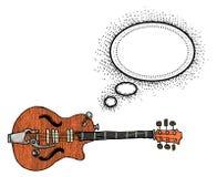 Электрическое guitar-100 иллюстрация вектора