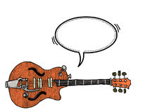 Электрическое guitar-100 иллюстрация штока