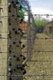 Электрическо обнести забором лагерь смерти Освенцим стоковая фотография rf