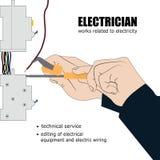 электрическо иллюстрация вектора