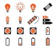 Электричества значки просто Стоковое Изображение