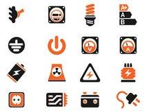 Электричества значки просто Стоковые Изображения RF