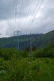 Электричество в горах стоковое изображение rf