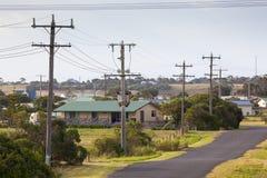 Электричество в малой австралийской деревне Стоковая Фотография